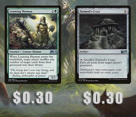 Image - Loaming Shaman ($.30), Tormod's Crypt ($.30)